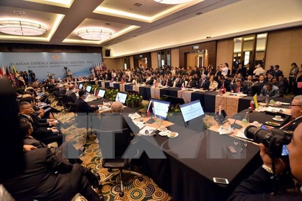 Inauguran reunion ministerial de defensa de ASEAN y socios hinh anh 1