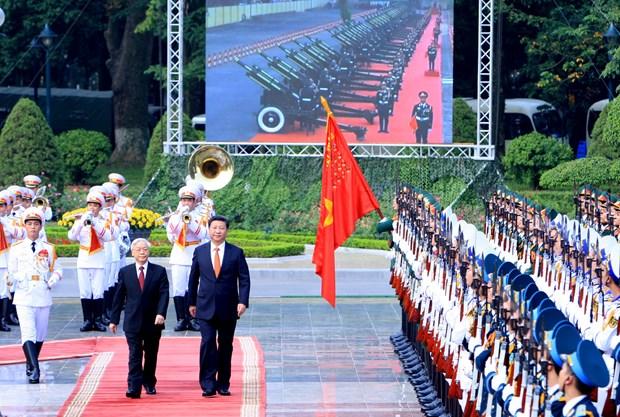 Maximo dirigente chino recibido por secretario general de PCV hinh anh 1