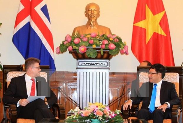Vietnam e Islandia acuerdan concretar actividades de cooperacion hinh anh 1