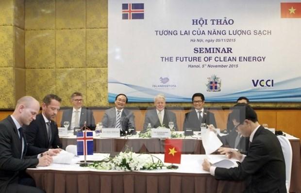 Vietnam con afan de adquirir experiencias islandesas en energia renovable hinh anh 1