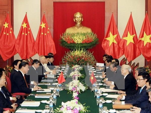 Nguyen Phu Trong y Xi Jinping sostienen conversaciones hinh anh 1