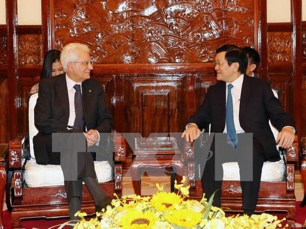 Vietnam e Italia acuerdan medidas para reforzar lazos bilaterales hinh anh 1