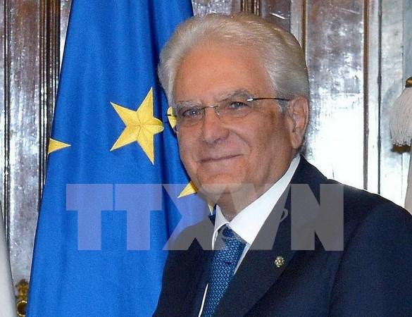 Lider partidista vietnamita recibe al presidente italiano hinh anh 1