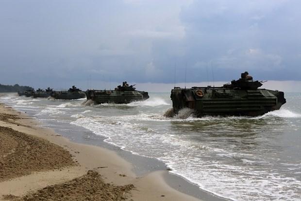 Realizan Malasia y Estados Unidos maniobra naval hinh anh 1