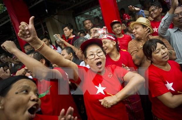 Anuncian primeros resultados electorales en Myanmar hinh anh 1