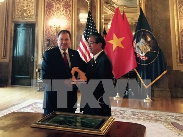 Promueve Vietnam cooperacion con el estado norteamericano de Utah hinh anh 1