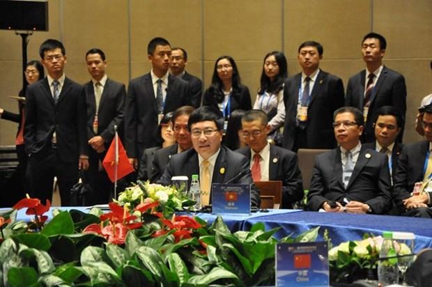 Participa vicepremier vietnamita en conferencia de cancilleres Mekong- Lancang hinh anh 1