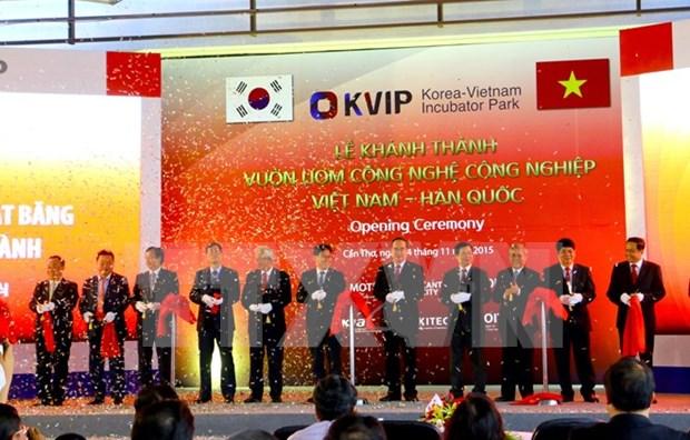 Vietnam y Sudcorea inauguran incubadora tecnologica industrial hinh anh 1