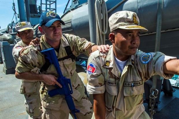 Cambodia y Estados Unidos realizan ejercicio conjunta CARAT hinh anh 1