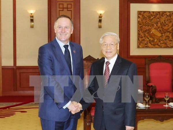 Nueva Zelanda y Vietnam buscan nuevos sectores de cooperacion en marco del TPP hinh anh 1