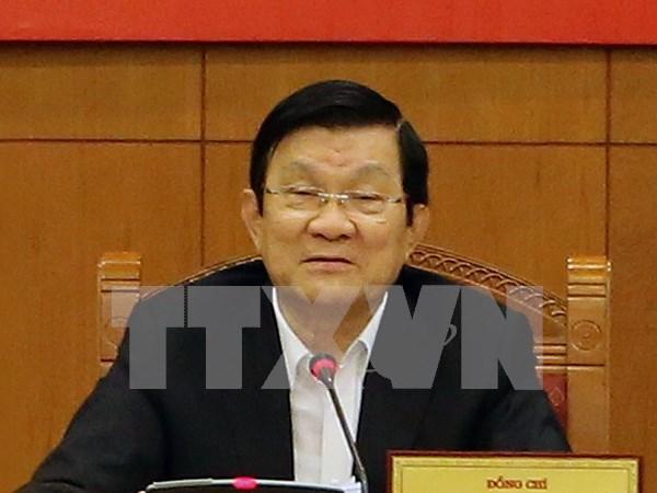 Presidente vietnamita asiste a XXIII Cumbre de lideres del APEC hinh anh 1