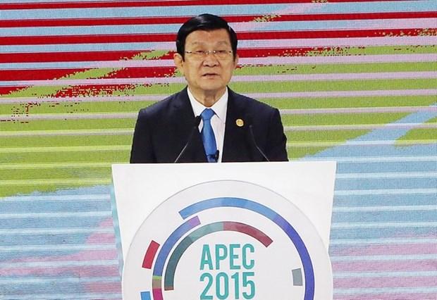 Lideres confirman determinacion para hacer efectivo TPP hinh anh 1