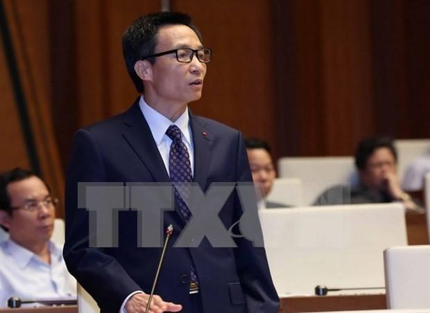 Tres vicepremieres y 13 titulares sectoriales comparecen ante parlamento hinh anh 3