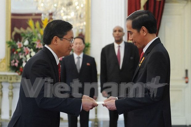 Presidente Joko Widodo recibe a embajador vietnamita hinh anh 1