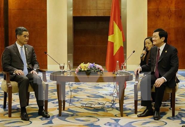 Cumple Tan Sang nutrida agenda en XXIII Cumbre de APEC hinh anh 1