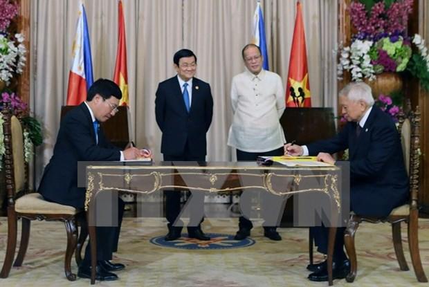 Establecen Vietnam y Filipinas nexos de asociacion estrategica hinh anh 1