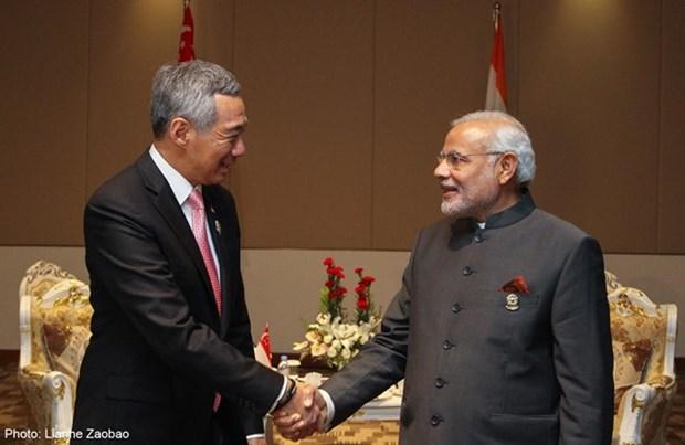 Realiza primer ministro indio visita a Singapur hinh anh 1