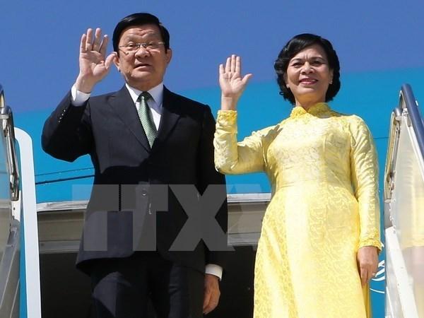 Presidente vietnamita llega a Alemania para visita oficial hinh anh 1