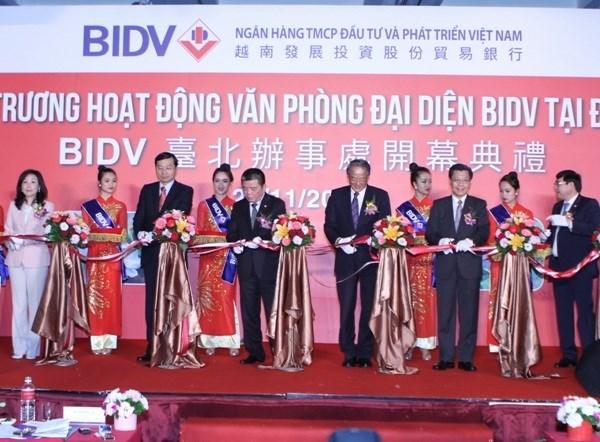 Entra en funcionamiento tercera oficina representativa de BIDV en Taipei hinh anh 1