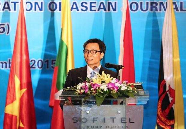 Prensa fomenta enlaces entre paises de ASEAN, afirmo vicepremier vietnamita hinh anh 1