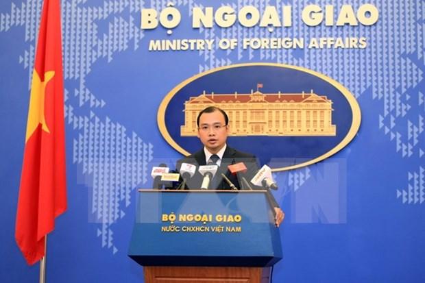 Vocero:Ereccion de hitos sustancial para demarcacion fronteriza Vietnam–Cambodia hinh anh 1