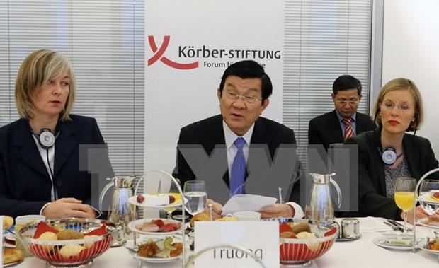 Presidente vietnamita aborda asuntos de paz y desarrollo en Instituto Koerber hinh anh 1