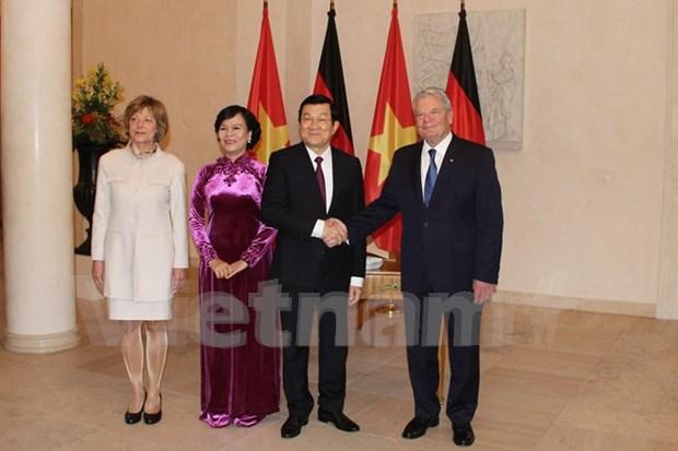 Presidente aleman afirmo su apoyo a causa de modernizacion de Vietnam hinh anh 1