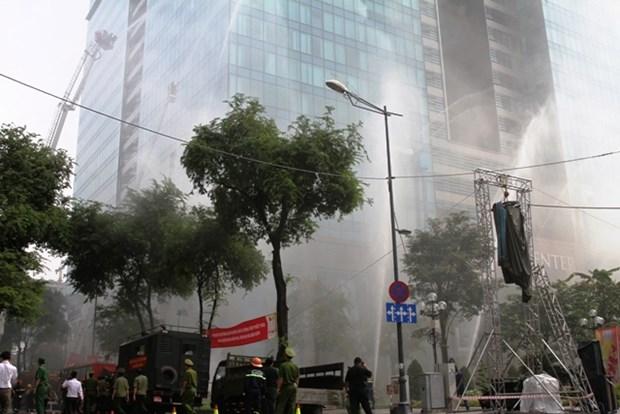 Ciudad Ho Chi Minh: Cuatro mil personas en simulacro de extincion de incendios hinh anh 1
