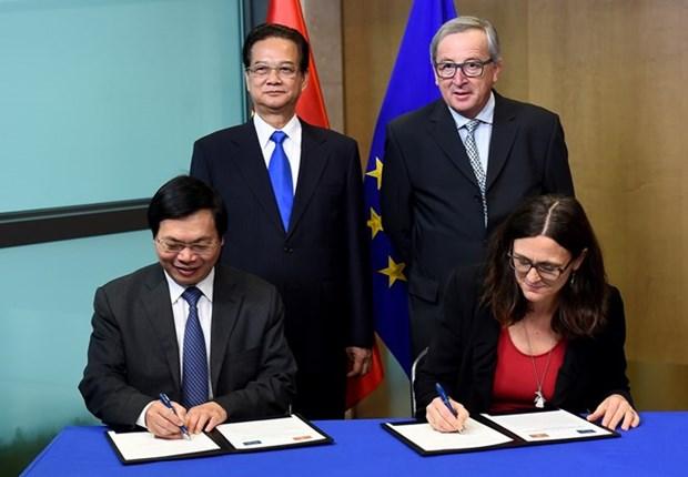 Vietnam y UE concluyen negociaciones de Tratado de Libre Comercio hinh anh 1