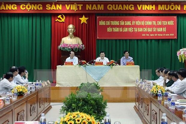 Presidente confia en perspectivas de desarrollo de Delta de Mekong hinh anh 1