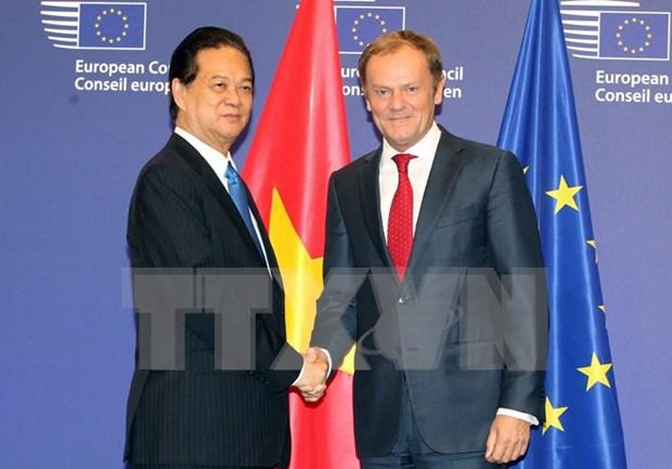 Intensifica Vietnam relaciones con Consejo y Parlamento europeos hinh anh 1