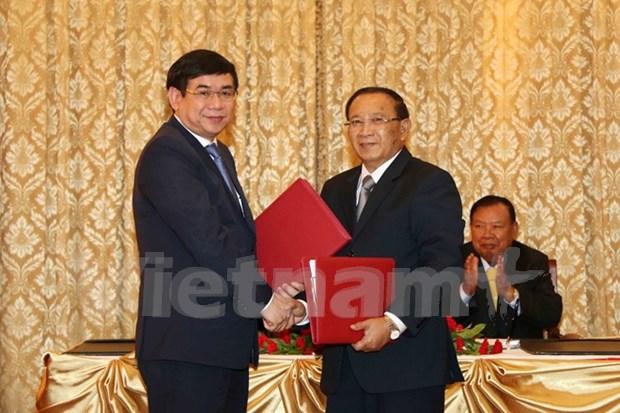 Banco vietnamita ayuda a Laos en el desarrollo agricola hinh anh 1