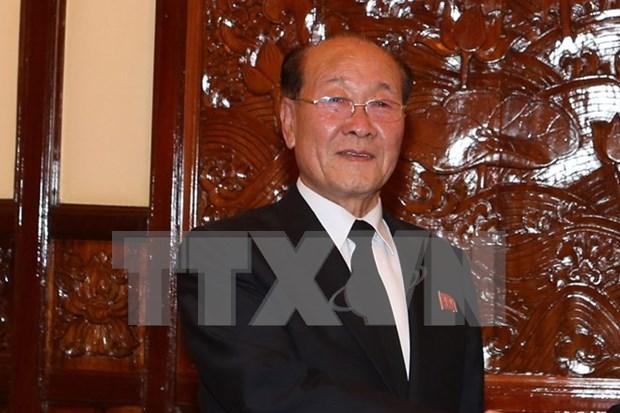 Dirigente de Ciudad Ho Chi Minh recibe al procurador de RPDC hinh anh 1
