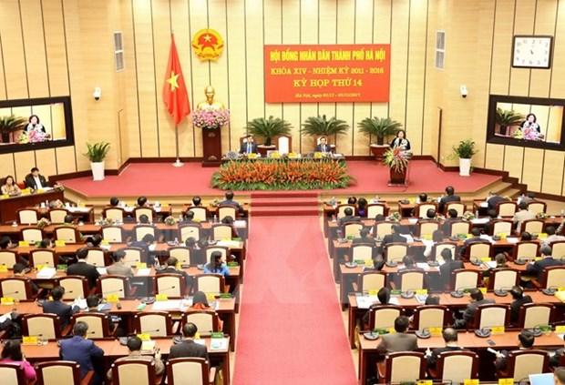 Clausuran periodo de sesiones del Consejo Popular de Hanoi hinh anh 1