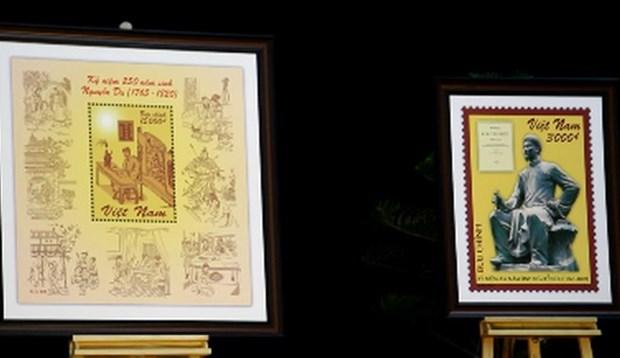 Publican especiales estampas en aniversario de natalicio de Nguyen Du hinh anh 1