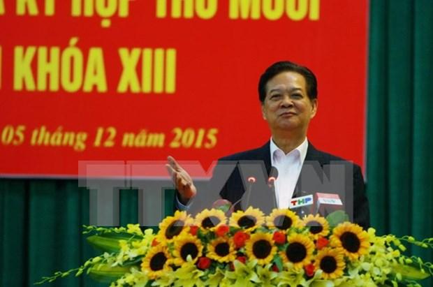 Premier se reune con electores de Hai Phong hinh anh 1