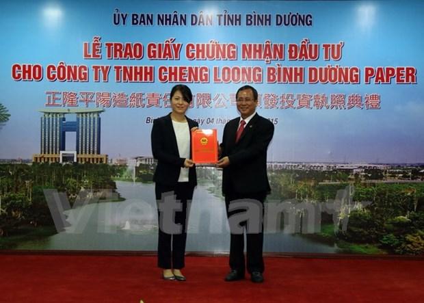 Inversion taiwanesa en construccion de planta de papel en Binh Duong hinh anh 1