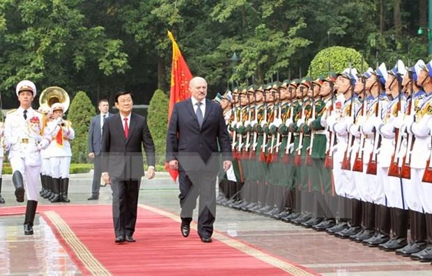 Vietnam – Belarus ratifican voluntad de elevar nexos bilaterales a nueva altura hinh anh 1