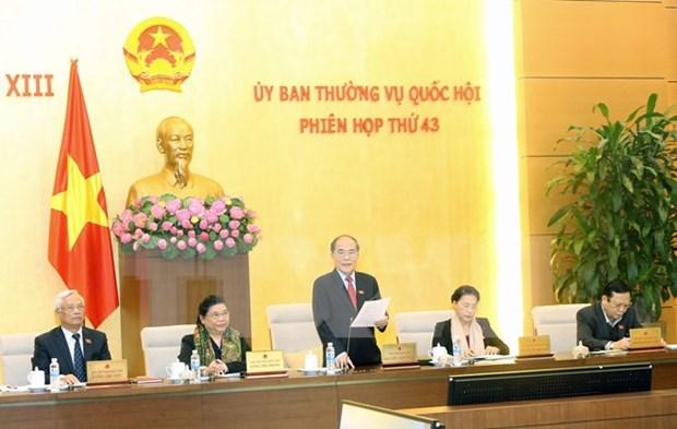 Comite Permanente del Parlamento vietnamita inicia su 43 reunion hinh anh 1