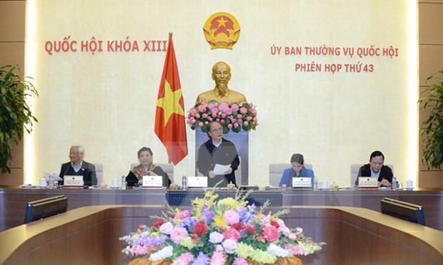 Comite Permanente de la Asamblea Nacional concluye 43 reunion hinh anh 1