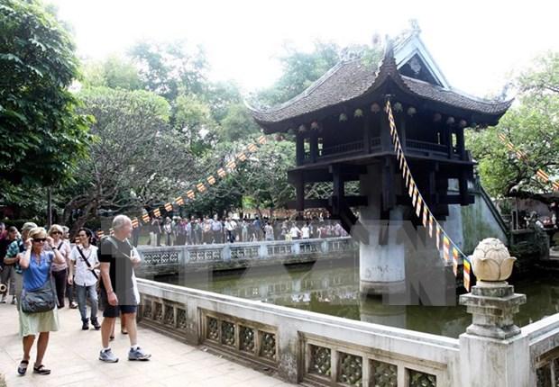 Crece 14 por ciento afluencia de turistas extranjeros a Hanoi hinh anh 1