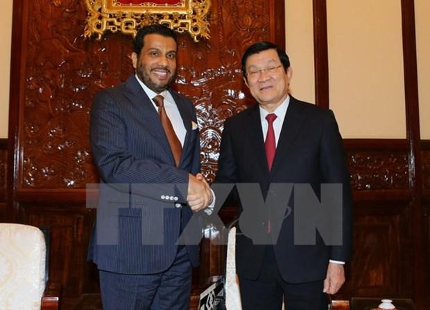 Presidente Truong Tan Sang llama a Qatar a invertir en Vietnam hinh anh 1