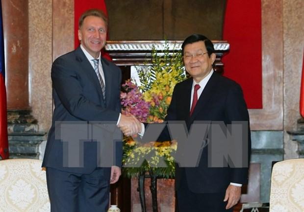 Presidente de Vietnam recibe a primer vicepremier ruso hinh anh 1