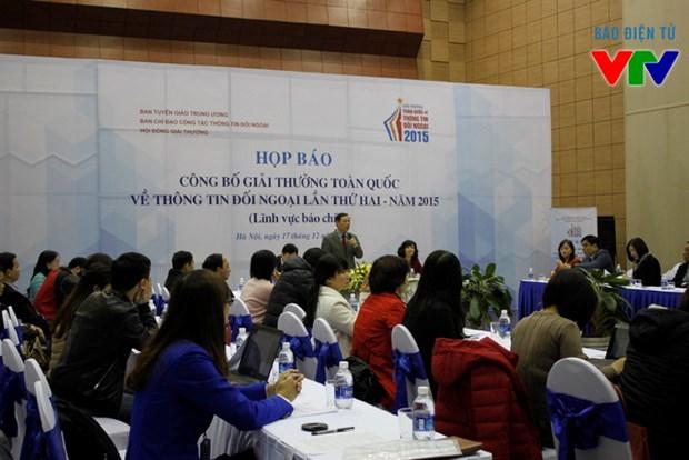 Comunicado sobre segunda edicion del premio nacional de informaciones al exterior hinh anh 1