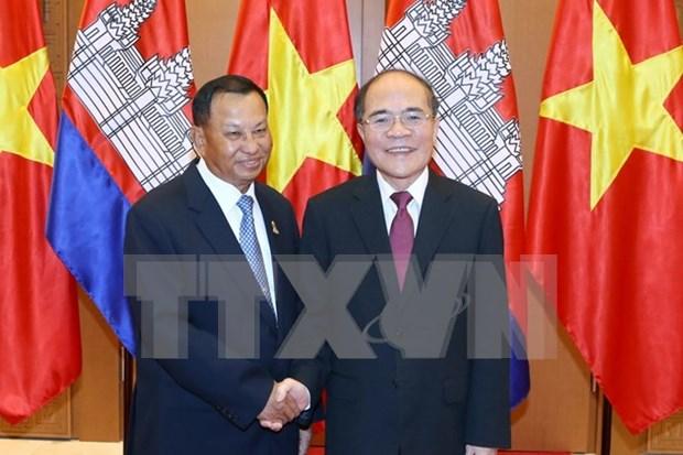 Concluye presidente de Senado cambodiano visita a Vietnam hinh anh 1