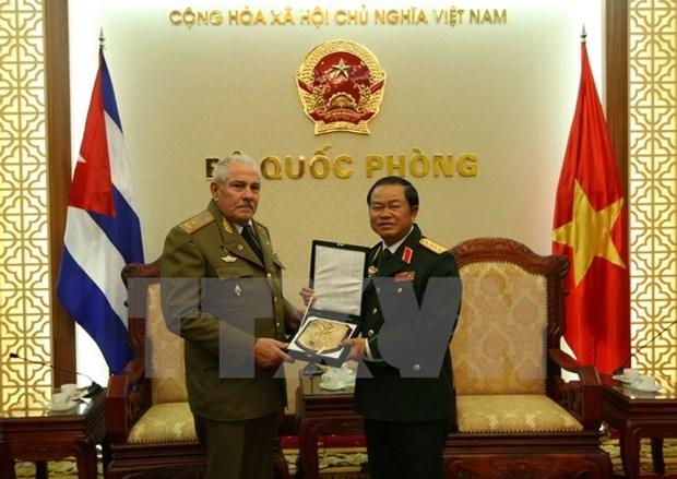 Alto oficial vietnamita destaca cooperacion militar con Cuba hinh anh 1