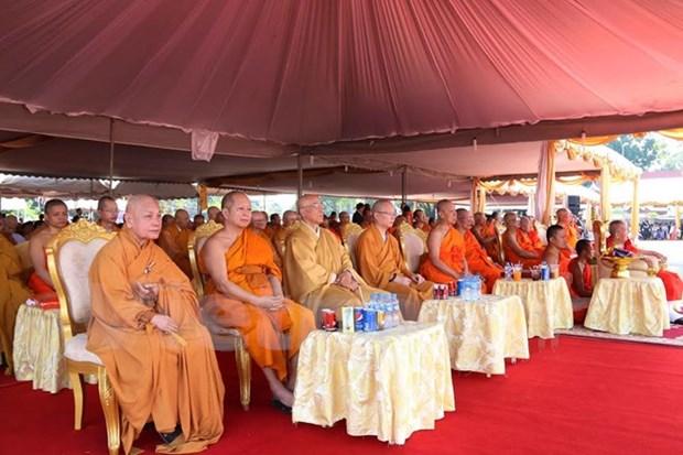 Laos efectua acto de cremacion al lider de Organizacion de Sangha Budista hinh anh 1