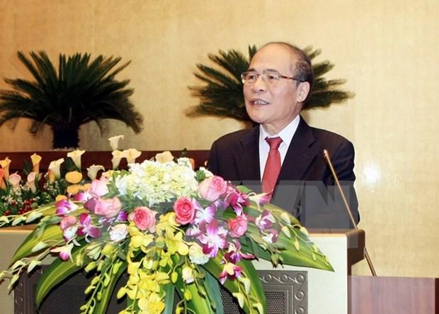 Visita del lider parlamentario vietnamita a China fomenta nexos bilaterales hinh anh 1