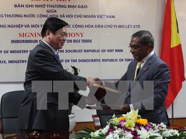 Tratan Vietnam y Timor Leste de impulsar cooperacion bilateral hinh anh 1