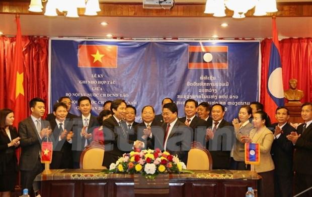 Ministerios de Interior de Vietnam y Laos impulsan cooperacion bilateral hinh anh 1